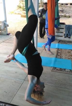 В гамаке йога